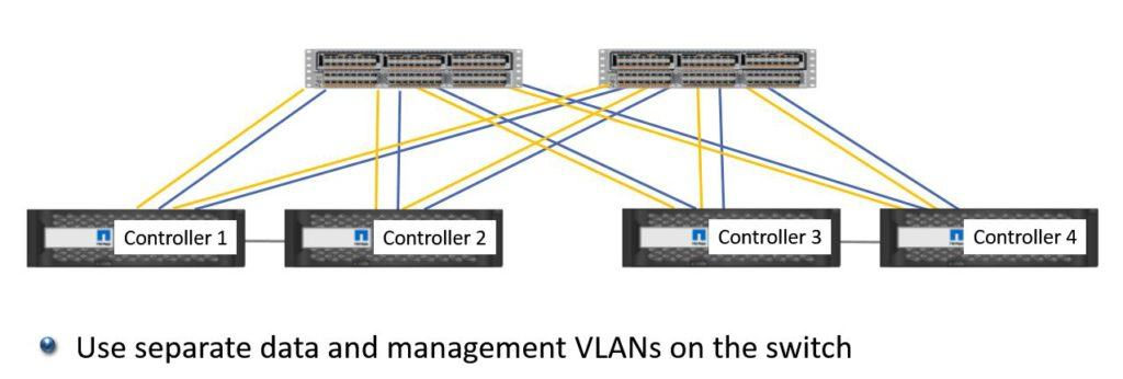 Shared Data and Management Network Switches