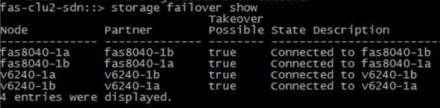 Storage Failover Show