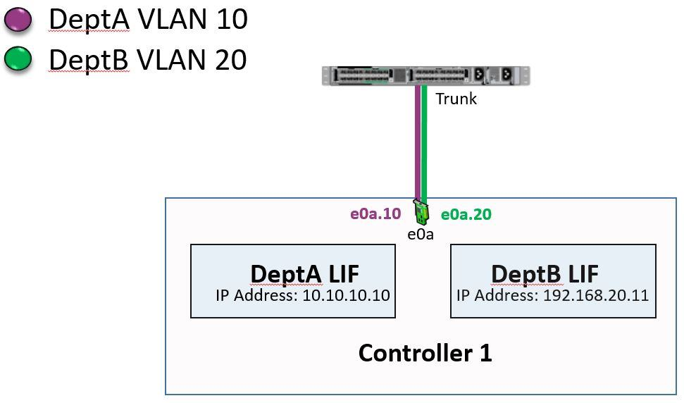 NetApp VLAN interfaces on shared physical port