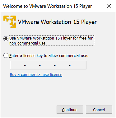 VMware Workstation Player Install and Network Configuration