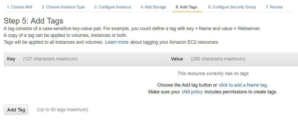 AWS Add Tags