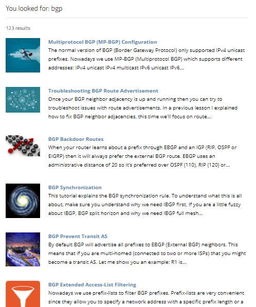 BGP articles