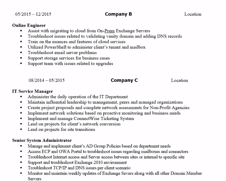 How to Write a Systems / Network Engineer Resume (with examples
