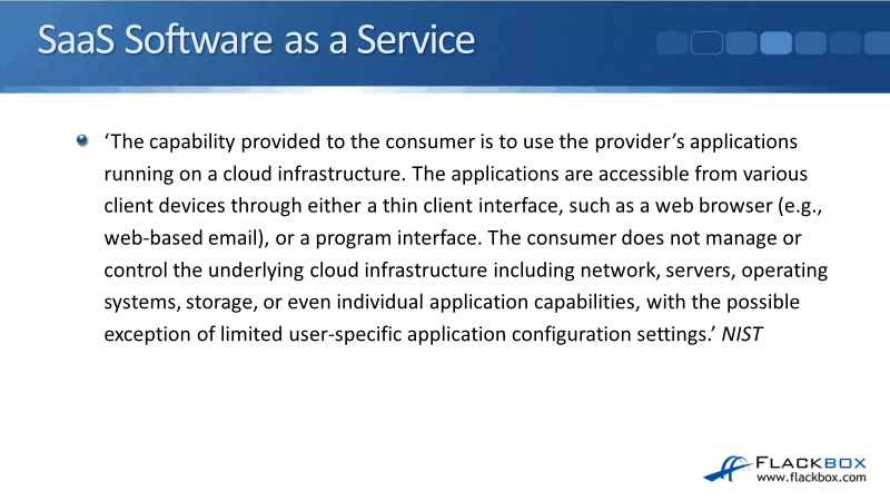 Cloud SaaS Software as a Service Tutorial