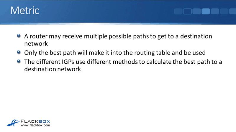 Cisco Routing Protocol Metrics Tutorial