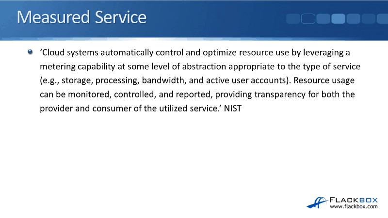 Cloud Measured Service Tutorial