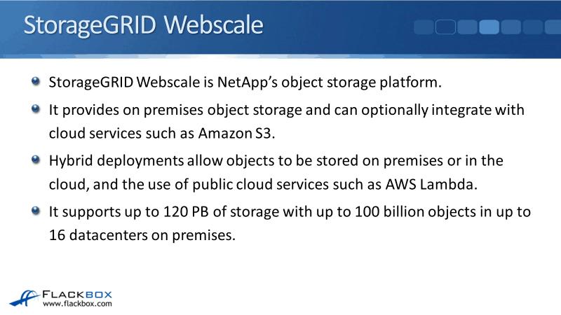 NetApp StorageGRID WebScale Overview Tutorial