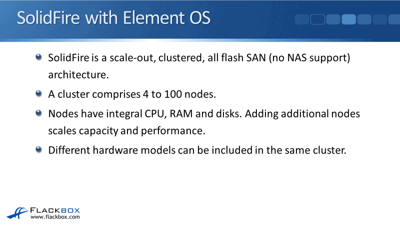 NetApp Element OS Platform Overview Tutorial - SolidFire and NetApp HCI