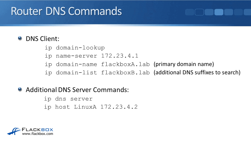 DNS on Cisco Routers