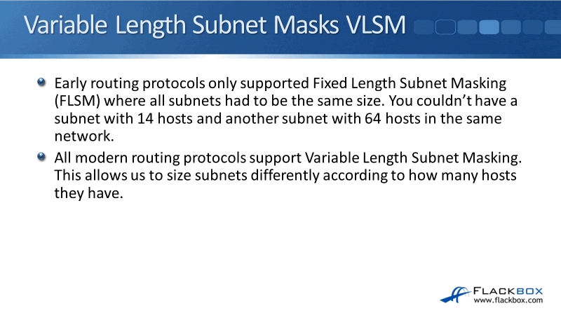 VLSM Variable Length Subnet Mask Example