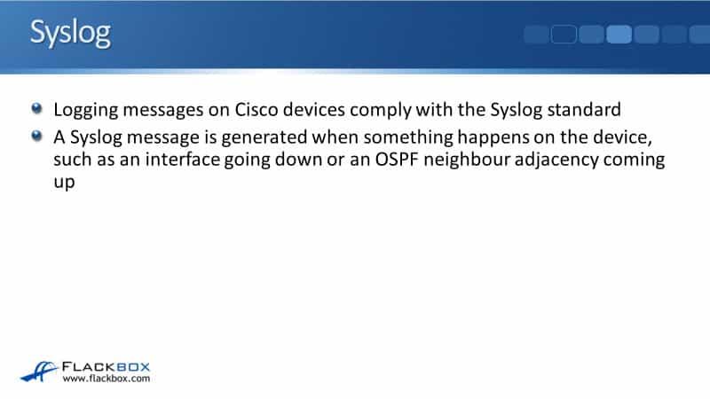 Cisco Syslog Tutorial