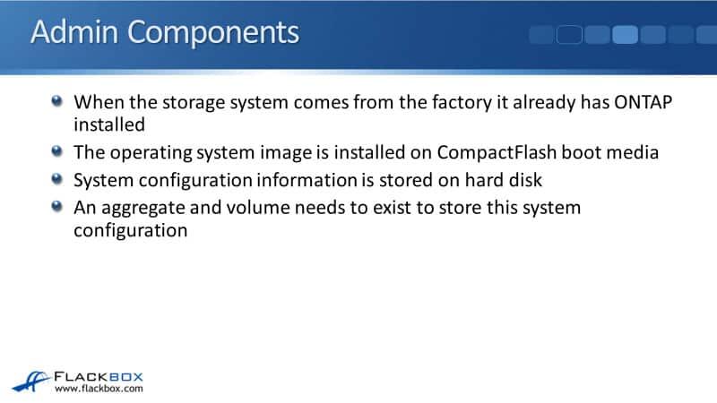 NetApp Admin Components