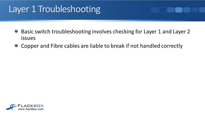 Cisco Basic Layer 1 and 2 Troubleshooting