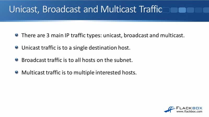 Cisco Unicast, Broadcast, and Multicast Traffic