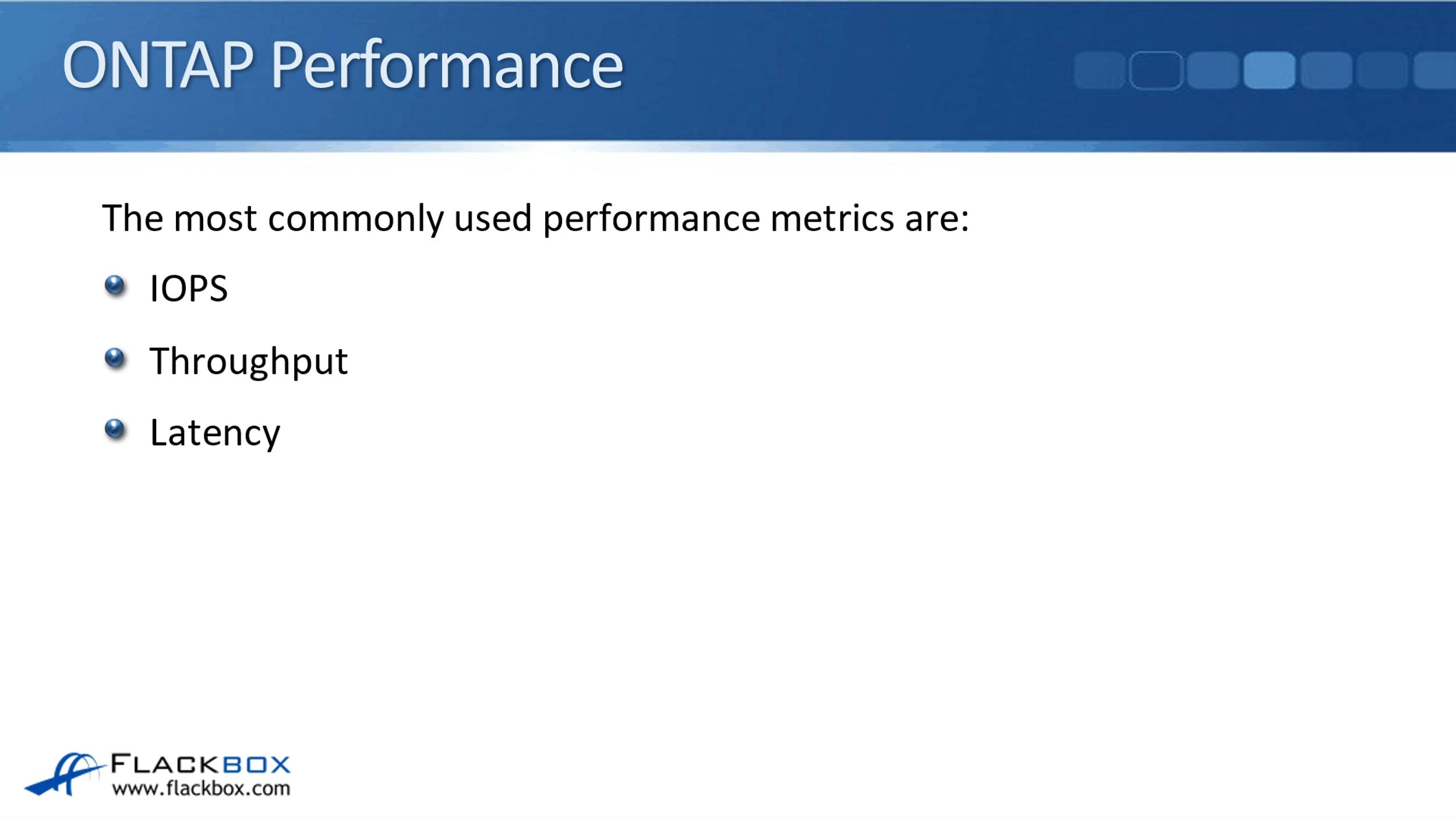 NetApp ONTAP Performance Overview
