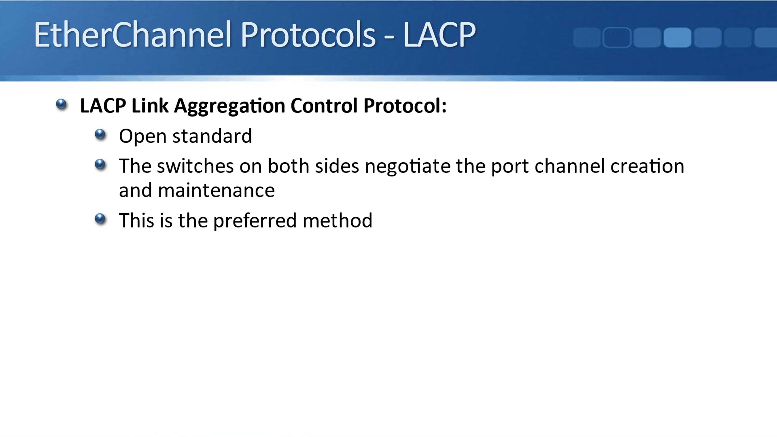 Cisco EtherChannel Protocols and Configuration