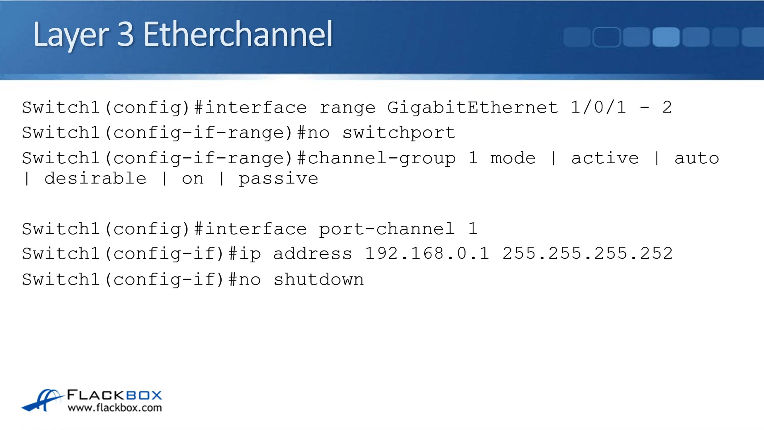 Cisco Layer 3 EtherChannel