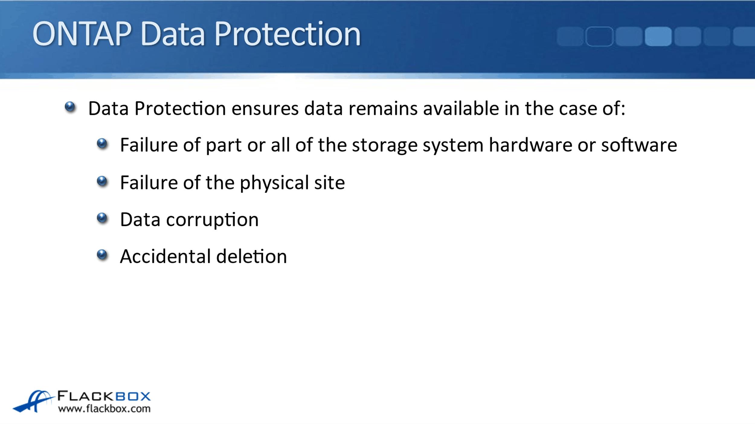 NetApp Data Protection Overview