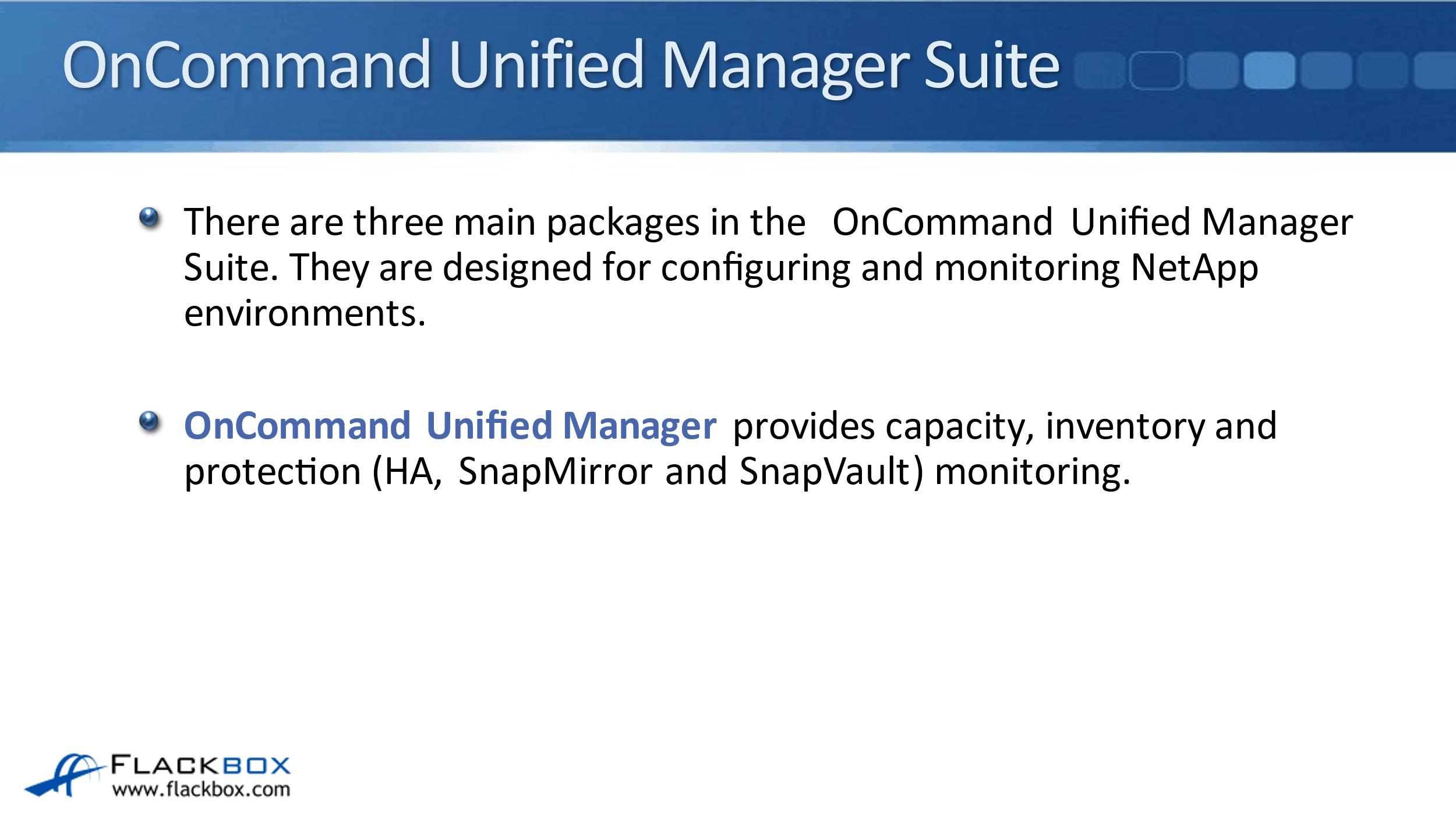 NetApp Centralized Management Software