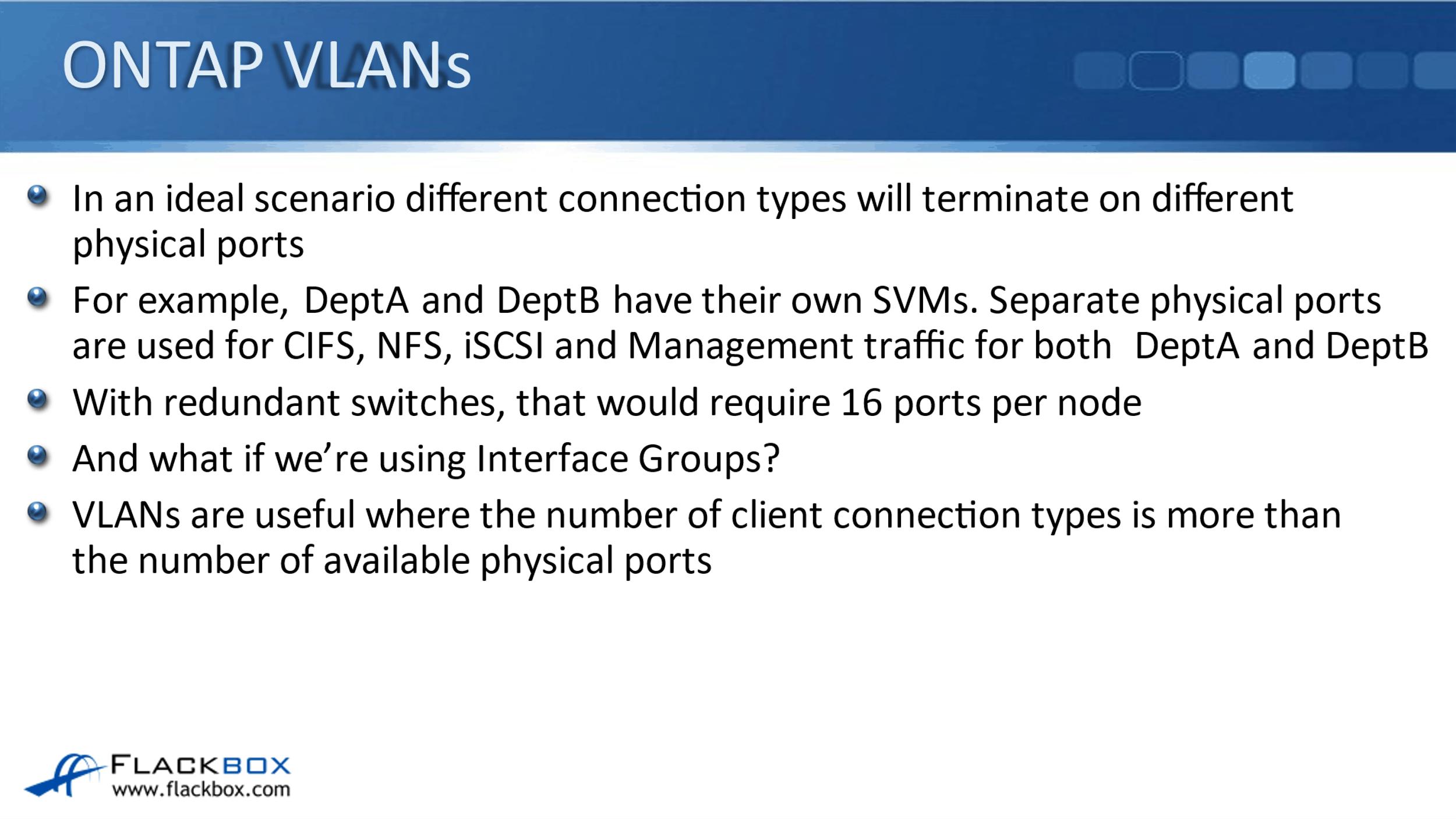 NetApp ONTAP VLANs