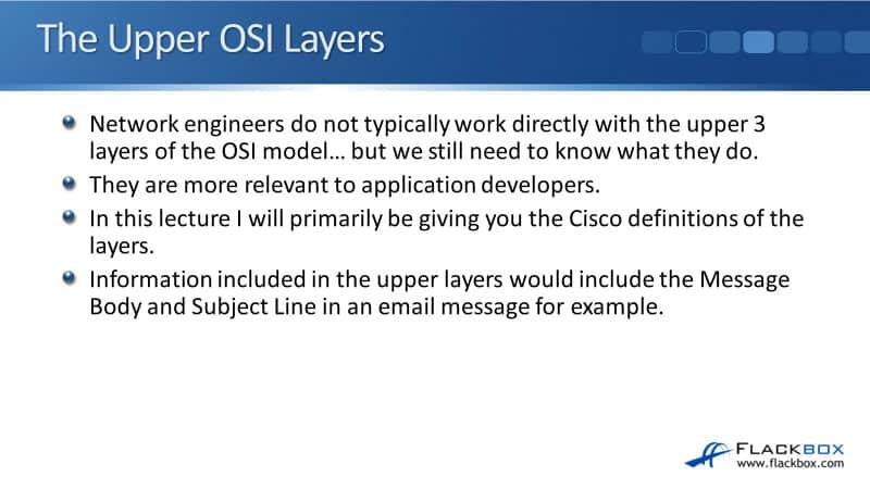 Cisco The Upper OSI Layers
