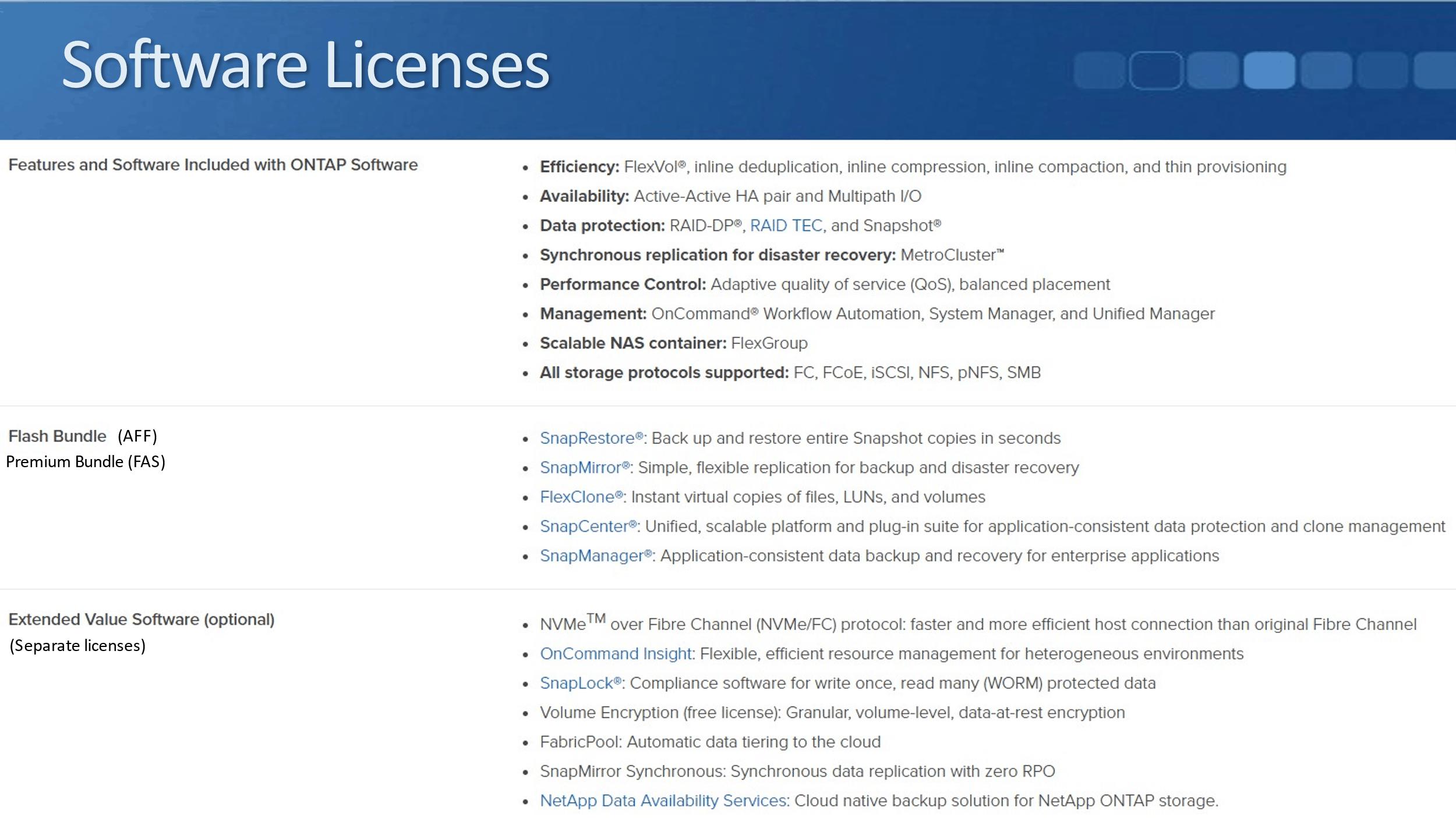 NetApp Licensing